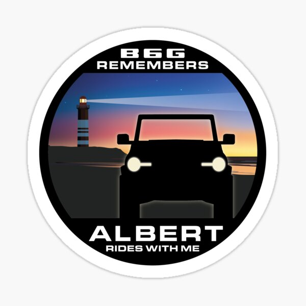 In Memory of Albert - Coastal version Sticker