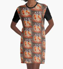 WALK BY FAITH - DELTA SIGMA THETA Graphic T-Shirt Dress