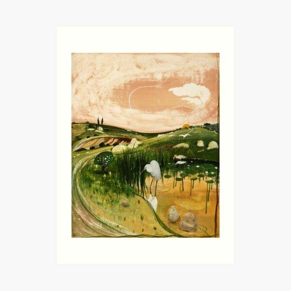 Brett Whiteley - Marulan Bird with Rocks. High quality print of the original painting.  Art Print