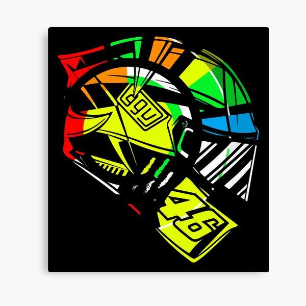 Valentino Rossi 46  Helmet Canvas Print