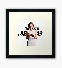 Gillian Anderson as Jane Bond Series Framed Print