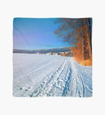Hiking through a sunny winter scenery Scarf