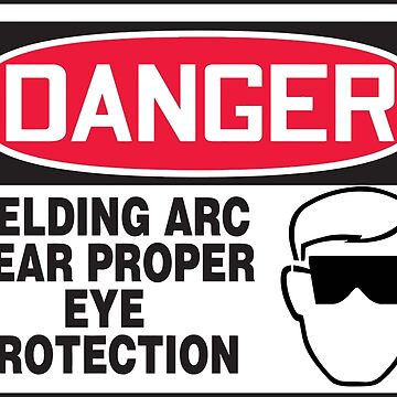 Welding arc eye protection by silverorlead