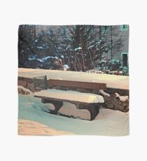 Snow covered bench Scarf