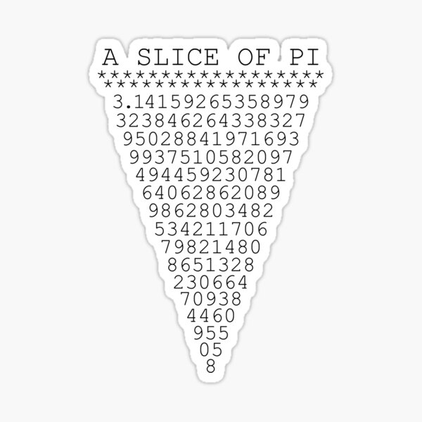 A Slice of Pi Sticker