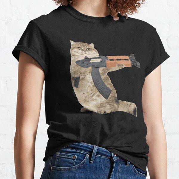 AK47 Kalashnikat Funny Cat Gun Classic T-Shirt