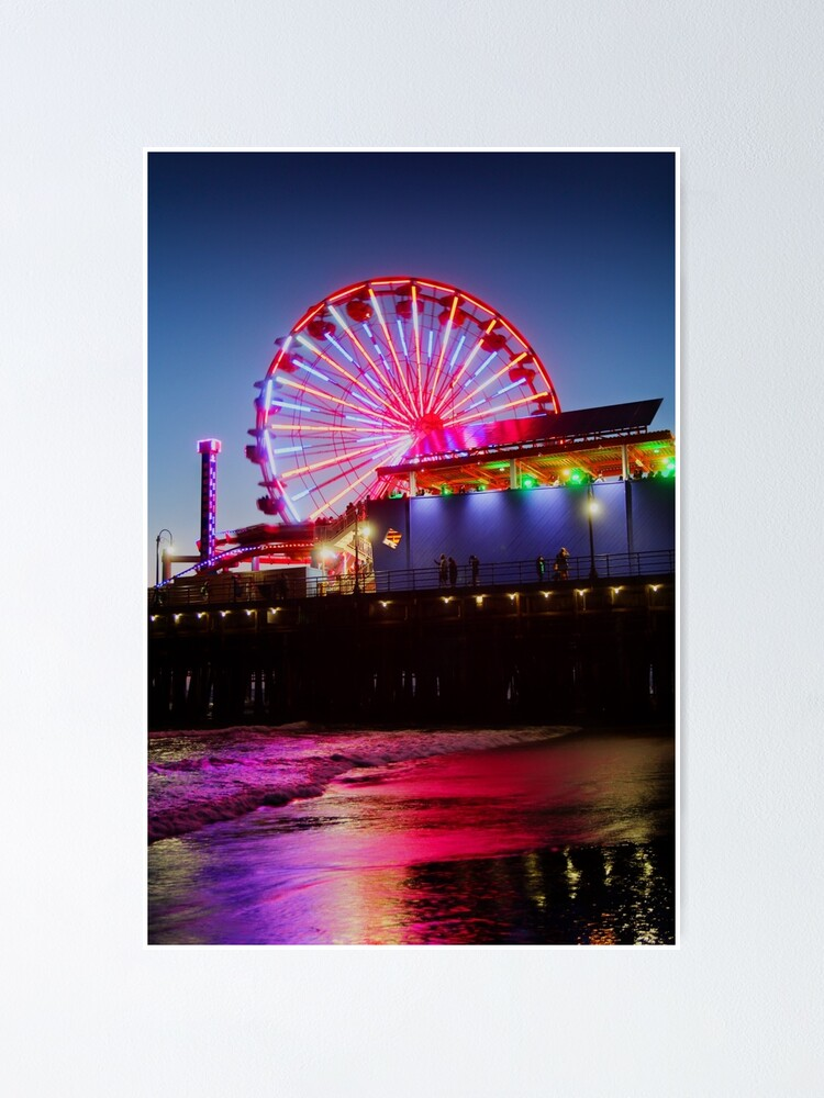 Alternate view of Santa Monica ferris wheel Poster