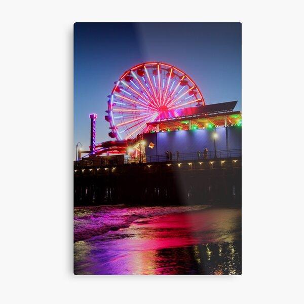 Santa Monica ferris wheel Metal Print