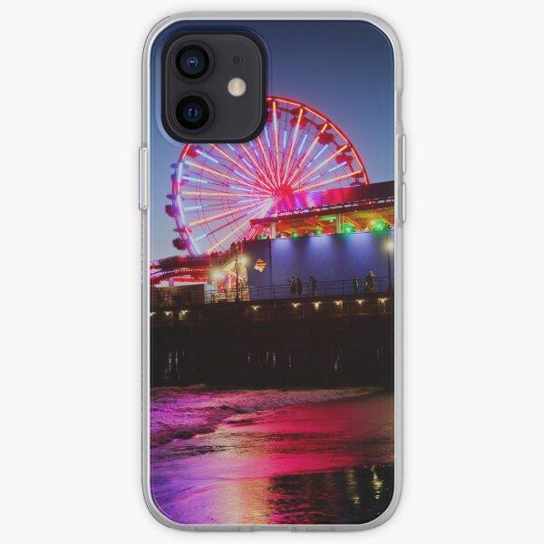 Santa Monica ferris wheel iPhone Soft Case