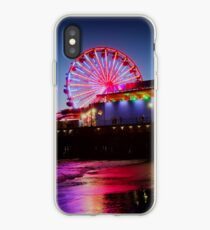 Santa Monica ferris wheel iPhone Case