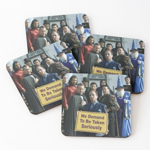 """Gob Bluth Magician """"We Demand to Be Taken Seriously""""  Coasters (Set of 4)"""