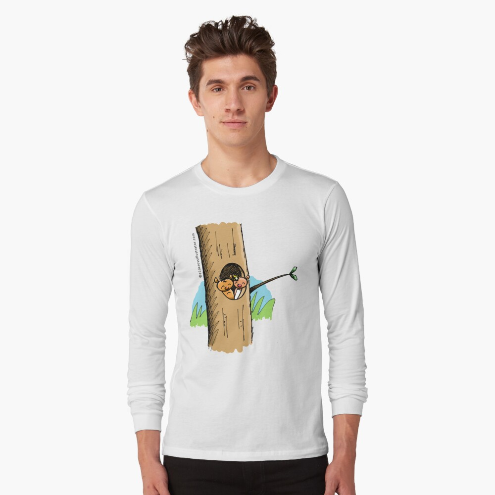 Ringo and Ringlet the Ringtail Possums in their home tree Long Sleeve T-Shirt