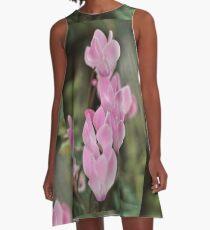 Pink Cyclamen Bokeh A-Line Dress