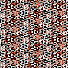 Funky Modern Orange Black White Grey Geometric Abstract Shapes Pattern by Artification