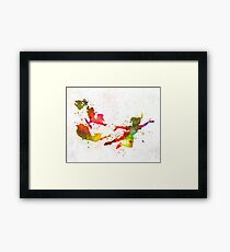 Peter Pan in Aquarell Gerahmtes Wandbild
