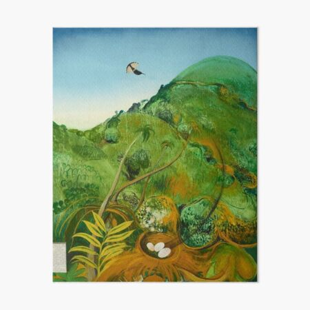 Brett Whitely - The Green Mountain (Fiji) 1969. Oil on board. High quality print of the amazing painting by the great Australian artist.  Art Board Print