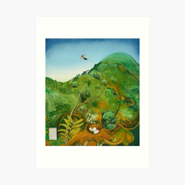 Brett Whitely - The Green Mountain (Fiji) 1969. Oil on board. High quality print of the amazing painting by the great Australian artist.  Art Print