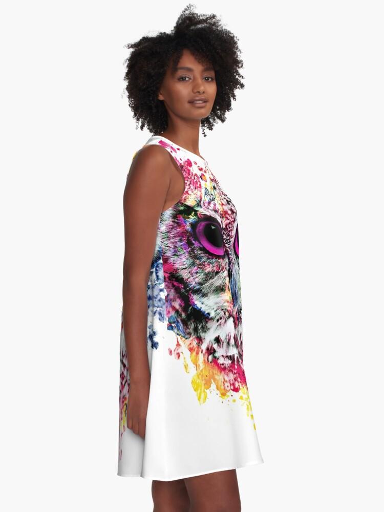Alternative Ansicht von Eule A-Linien Kleid