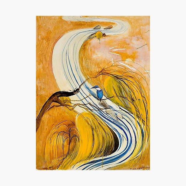 Brett Whiteley - Study for Kingfisher (1978). Oil on canvas. High quality print of original fine artwork. Photographic Print