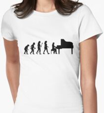 Women's Piano T Shirt Evolution Of The Pianist  T-Shirt