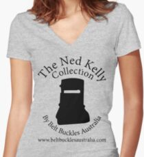 Ned Kelly Collection Women's Fitted V-Neck T-Shirt