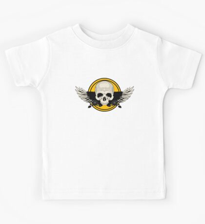 Wing Skull - YELLOW Kids Clothes