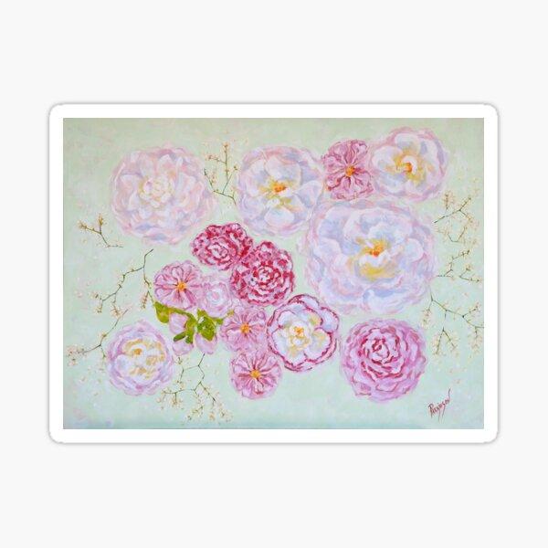 Delicate Camellias Sticker