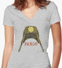 Fargo Sheriff Marge Gunderson Women's Fitted V-Neck T-Shirt