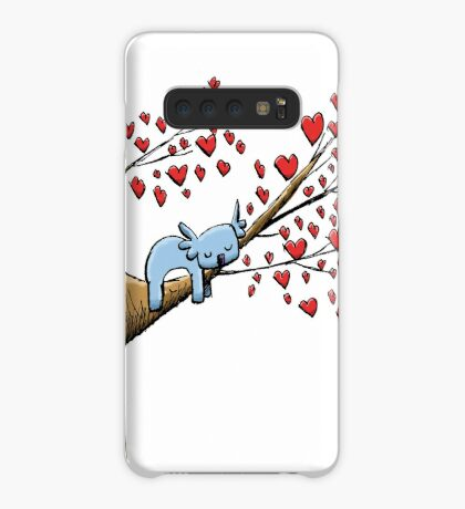 Cute Sleeping Koala on Tree with Hearts Case/Skin for Samsung Galaxy