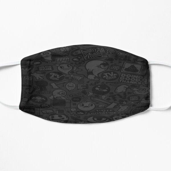 Random patterenatic Cartoon dark printed fashionable design art Flat Mask