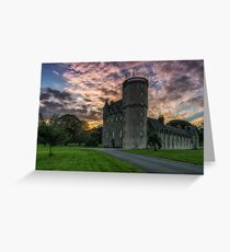 Castle Fraser and Gardens at Sunset - Aberdeenshire Greeting Card