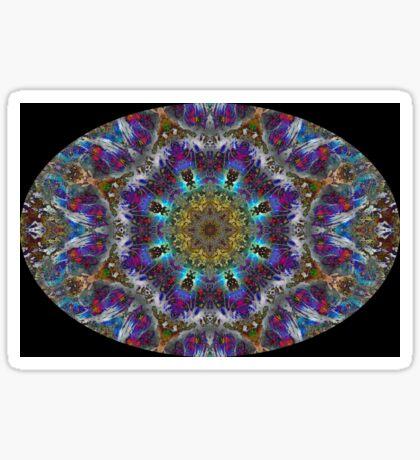 Barnie Paw Prints Kaleidescope 4 Sticker