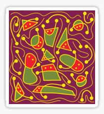 Playful abstraction Sticker