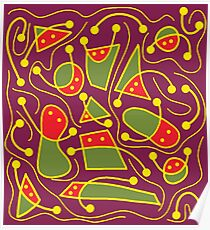 Playful abstraction Poster