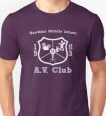 Hawkins Middle School AV Club - White T-Shirt