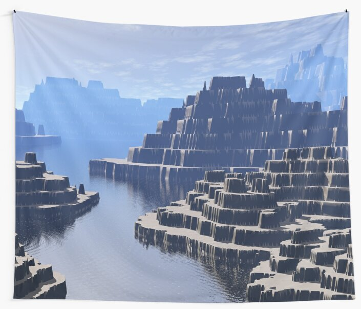 Mysterious Terraced Mountains by Phil Perkins