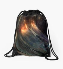 Alien Head VII AIII Drawstring Bag
