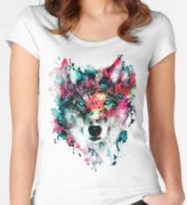 Wolf II Women's Fitted Scoop T-Shirt