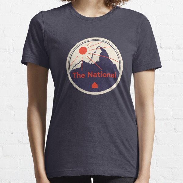 The National - amazing indie rock / alternative band. 'Mountain and Sun' vintage badge graphic. Essential T-Shirt