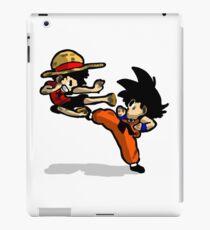 son goku vs luffy iPad Case/Skin