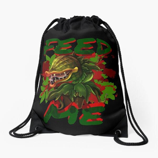 feed me Drawstring Bag