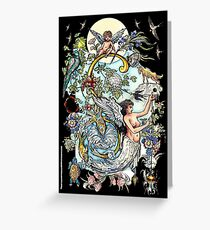 """MYSTICMATRIX The Illustrated Alphabet Capital  S  """"Getting personal""""  Greeting Card"""
