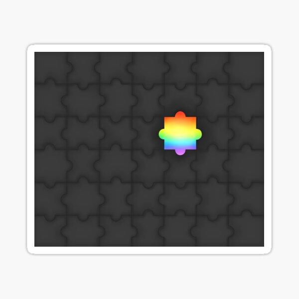 Funky Jigsaw Puzzle Pattern Sticker