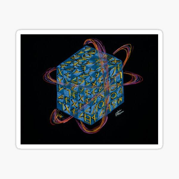 Quantum Sapphire Cube Sticker