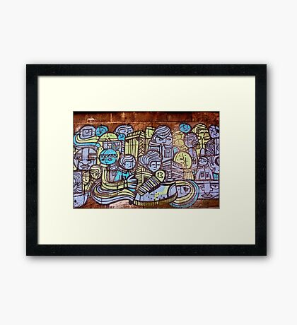 Faces of the City Framed Print