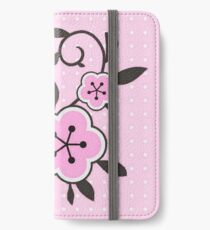 Miraculous Ladybug / Marinette Dupain-Cheng - Pink polka dot flower design iPhone Wallet/Case/Skin