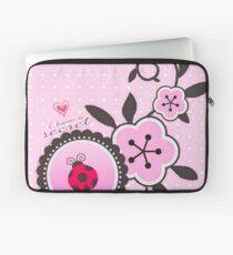 Miraculous Ladybug / Marinette Dupain-Cheng - Pink polka dot flower design Laptop Sleeve