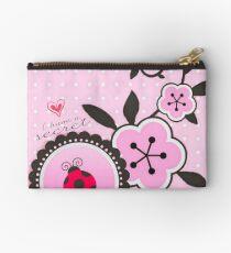 Miraculous Ladybug / Marinette Dupain-Cheng - Pink polka dot flower design Studio Pouch