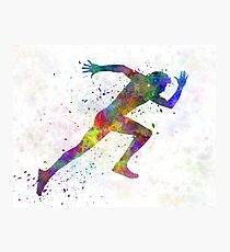 Man running sprinting jogging Photographic Print