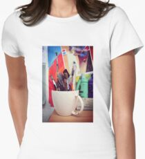 Still Life with Brushes Womens Fitted T-Shirt